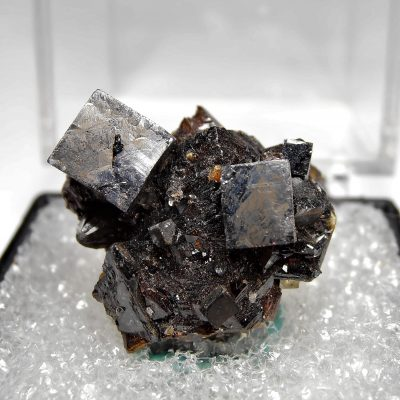 Galena Crystals on Sphalerite from the Elmwood Mine