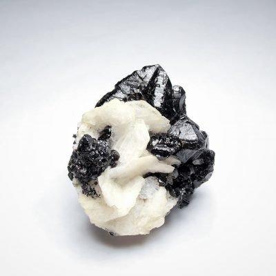 Cassiterite - Crystal Clusters on Albite - Divino das Laranjeiras