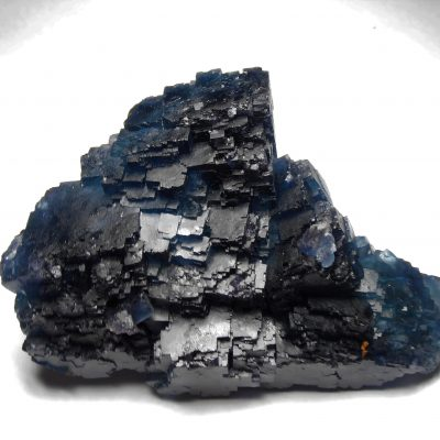 Fluorite - Deep Blue Stair Step Crystals from Fujian Province