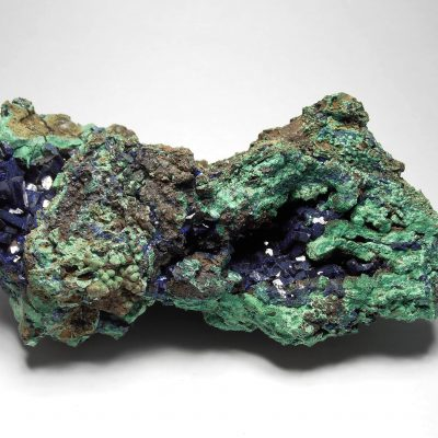 Azurite on Malachite - Geode like Formations from Anhui