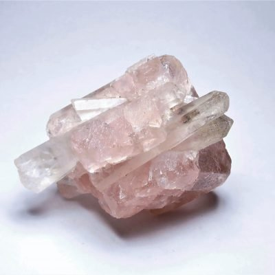 Fluorite - Stunning Pink Octahedron on Quartz- Inner Mongolia