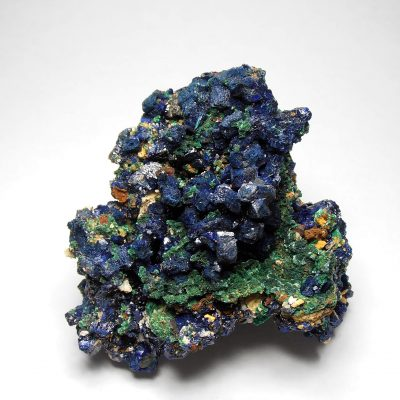 Azurite on Malachite - Large Crystals from the Tongshan Mine
