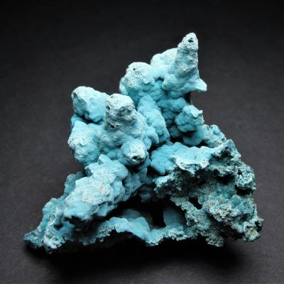 Rosasite Stalactite Display From the Ojuela Mine