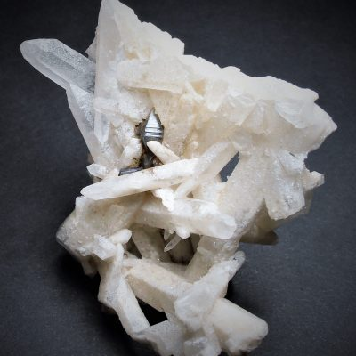 Anatase Crystal Cluster on Quartz from Minas Gerais