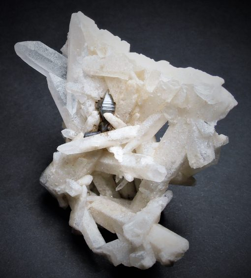 Anatase Crystal Cluster on Quartz from Minas Gerais