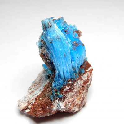 Chalcanthite - Elongated Crystals from the Planet Mine