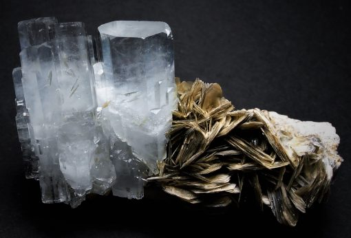 Aquamarine - Aesthetic DT Crystals on matrix from Gilgit
