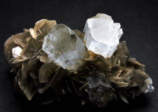 Aquamarine - Pristine Gem Crystals on Matrix - Gilgit-Baltistan