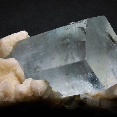 Aquamarine - Large Double Term. Crystal Penetrating Matrix - Gilgit
