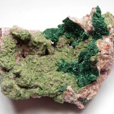 Conichalcite & Malachite on Cobaltoan Dolomite - Mashamba West Mine