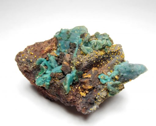 Chrysocolla Double Pseudomorph with Wulfenite - Whim Creek