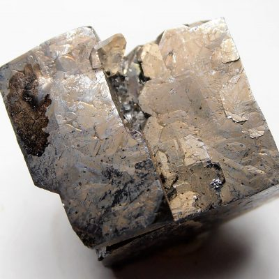 Galena - Complex Crystal with Calcite - Elmwood Mine