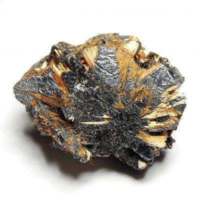 Rutile on Hematite from Novo Horzonte in Bahia