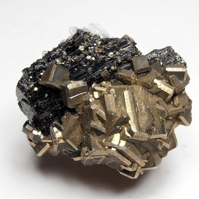 Ferberite with Pyrites from the Yaogangxian Mine