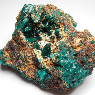 Dioptase Crystals from the Tantara Mine in Shinkolobwe,