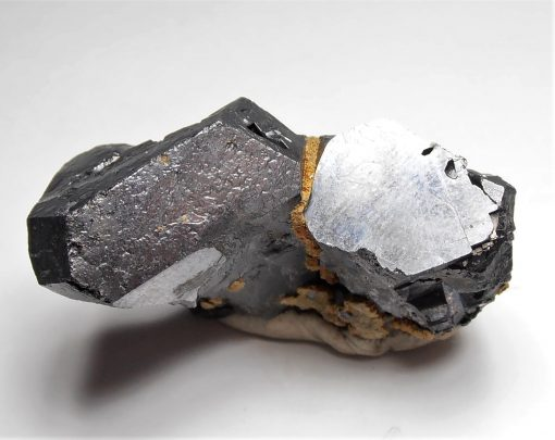 Galena - Vee Twinned Hoppered Crystals from Dal'negorsk