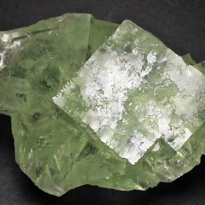 Fluorite - Transparent Apple Green Crystals - Xianghualing Mine