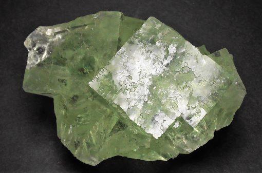 Fluorite - Transparent Apple Green Crystals - Xianghualing Mine