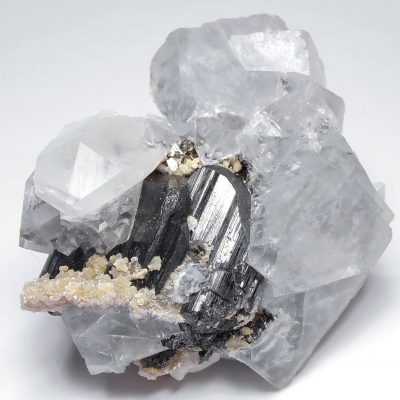 Fluorite and Ferberite Combination - Yaogangxian Mine