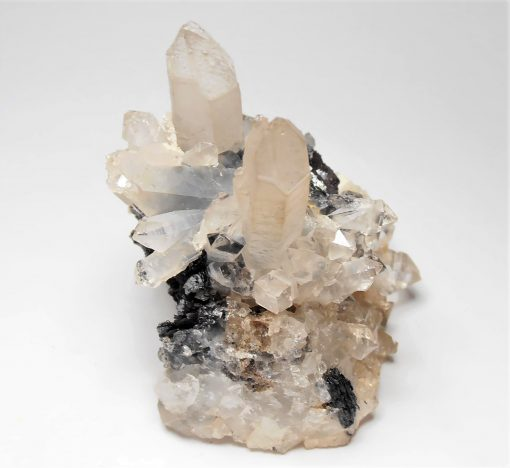 Hematite with Scepter Quartz Crystals from the Guangdong Province