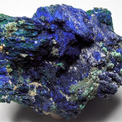 Azurite with Malachite from the Tongshankou Copper Mine