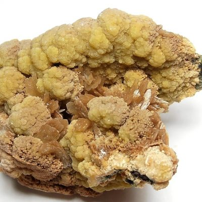 Mimetite with Barite from the Ojuela Mine in Mapimi