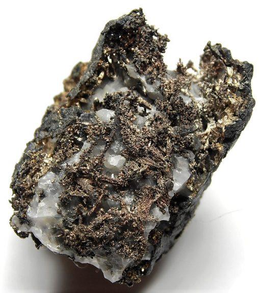 Silver on Calcite from Batopilas, Andres del Rio District