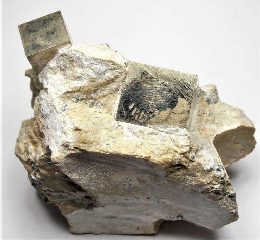 Pyrite - Mirror Bright Crystals from Navajuin, La Rioja