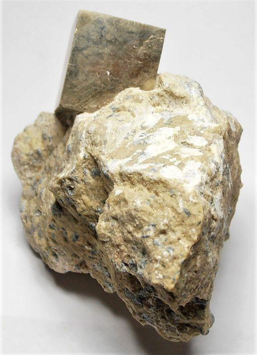 Pyrite - Sharp Cubic Crystal from Navajuin, La Rioja
