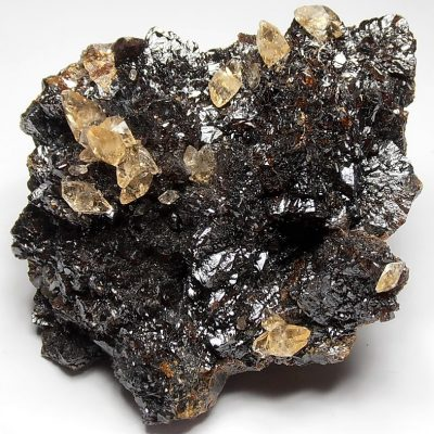 Sphalerite Crystal Rosette with Calcite - Elmwood Mine