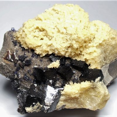 Three Mineral Crystal Combination from the Elmwood Mine
