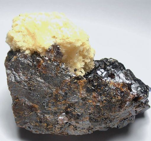 Barite on Sphalerite Crystal Plate - Elmwood Mine