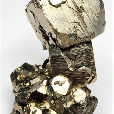 Pyrite Crystal Stalactite from the Huanzala Mine, Huallanca