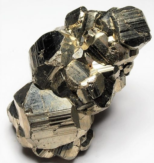 Pyrite - Striated Crystals from the Huanzala Mine, Huallanca