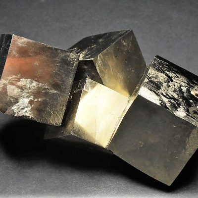 Pyrite - Stunning Reconstructed Cubic Crystal Chain from Navajuin