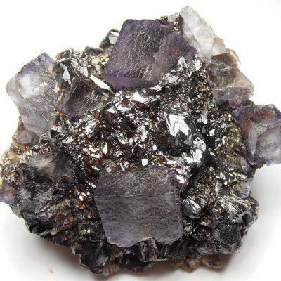 Sphalerite Crystal Rosette with Fluorites - Elmwood Mine