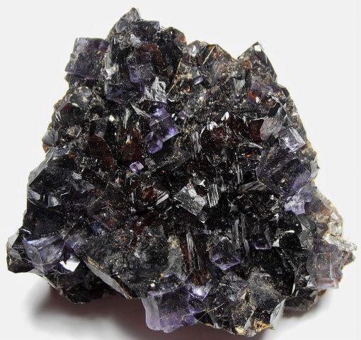 Fluorite on Ruby Sphalerites from the Elmwood Mine, Tennessee
