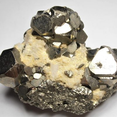 Pyrite - Cuboctahedral Crystals from the Huanzala Mine