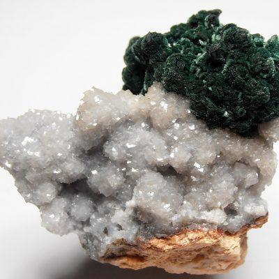 Malachite pseudomorphs of Azurite from the Tsumeb Mine