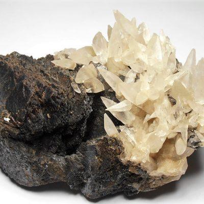 Calcites on Sphalerite - Denton Mine, Cave In Rock, Illinois