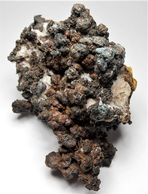 Copper - Branching Crystals in and on Calcite from the Onganja Mine