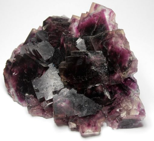 Fluorite - Cranberry and Violet Crystals from the Okorusu Mine