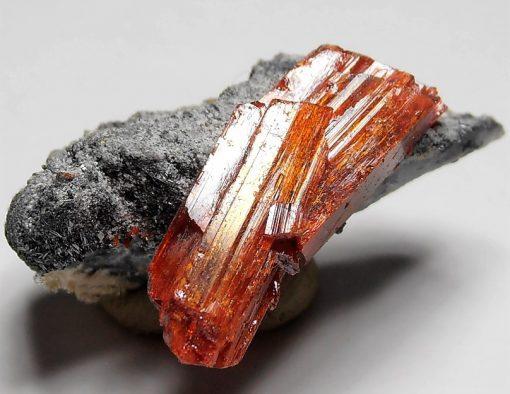 Realgar - Double Terminated Crystals from Baia Sprie, Maramures
