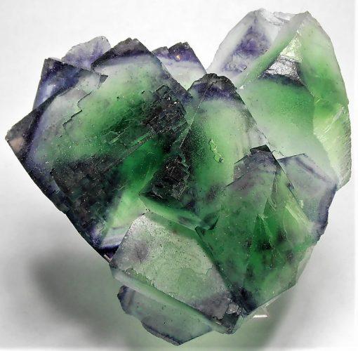 Fluorite - Emerald and Purple Crystals - Okorusu Mine