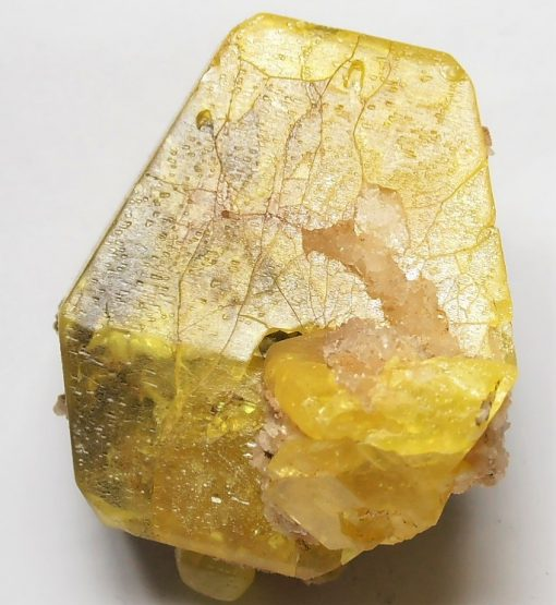 Sulfur - 57 mm Euhedral Crystal from the Agrigento Province