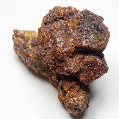 Copper after Cuprite Crystal Cluster from Rudnyi Altai