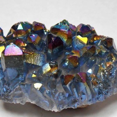 """""""Titanium Aura"""" - Infused Quartz Crystal Cluster"""