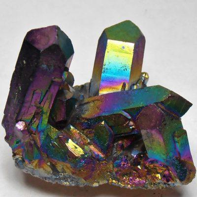 Titanium Aura - Infused Quartz Crystal Cluster