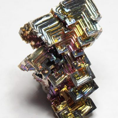 Bismuth - Iridescent Crystal Cluster from Germany