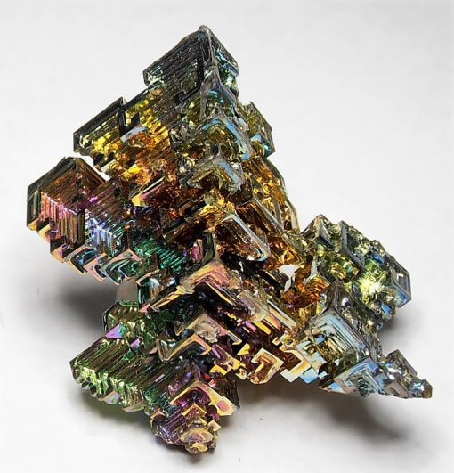 Bismuth - Colorful Iridescent Crystal Cluster from Germany